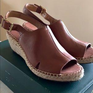 Clark's Brown Wedge Sandals